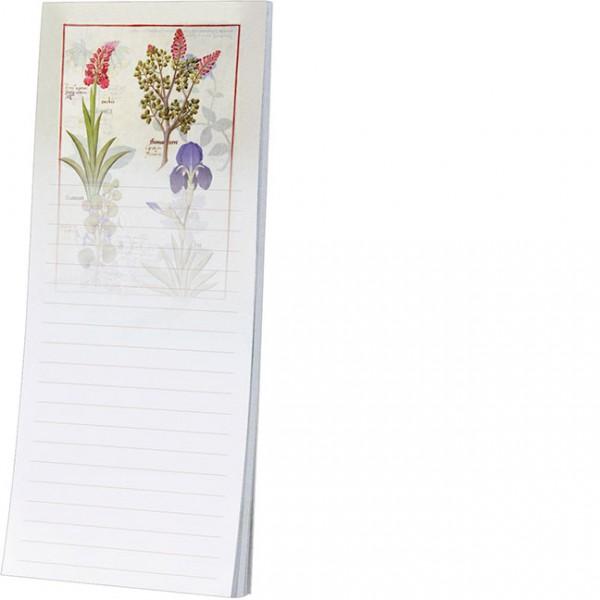 Kühlschrankblöckchen 'Orchidee und Erdrauch oder Tränendes Herz '