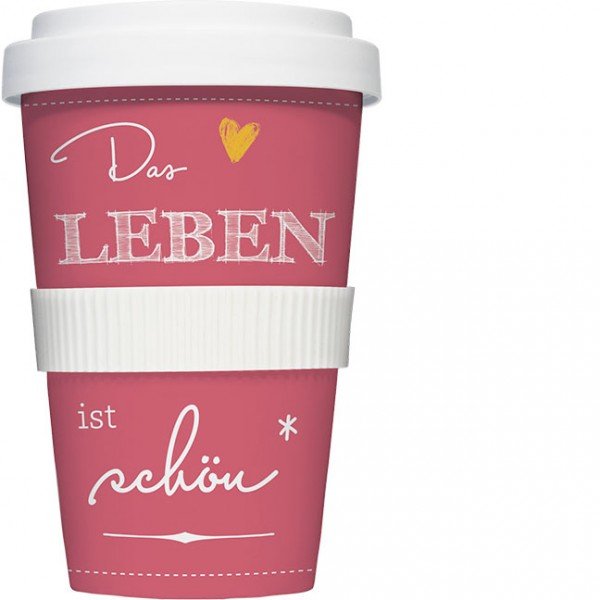Coffee to go 'Das Leben ist schön'