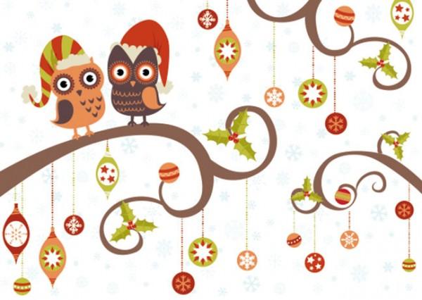 "Postkarte X-Mas ""Weihnachtseulen"""