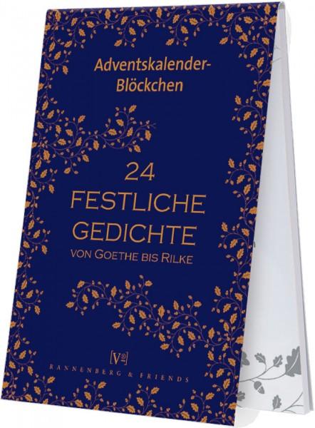 Adventskalenderblöckchen '24 Festliche Gedichte -RSBW 012