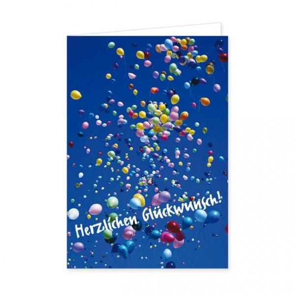 """Doppelkarte """"Luftballons"""""""
