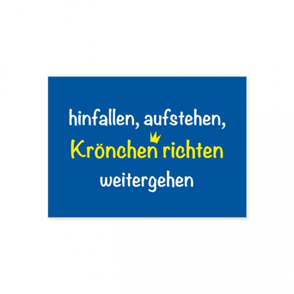 """Postkarte """"Krönchen richten"""""""