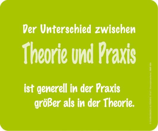 Maus-Pad 'Theorie und Praxis'