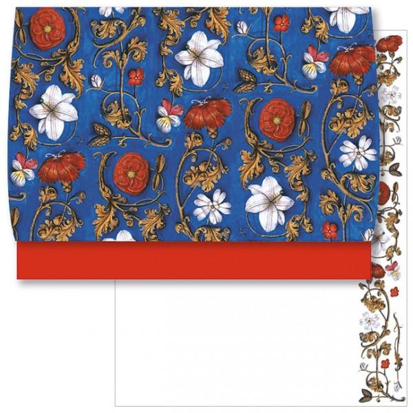 Schreib-Set 'Flämische Buchmalerei, Blumenornamente'