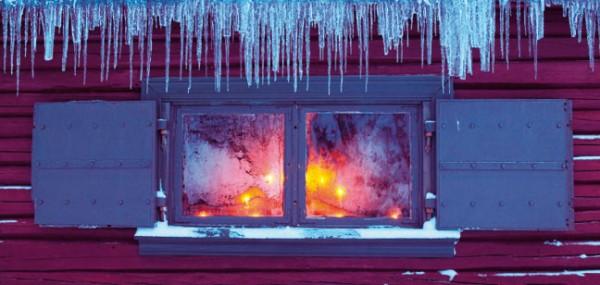 """XXL-Postkarte X-Mas """"Kerzenlichter am Fenster"""""""