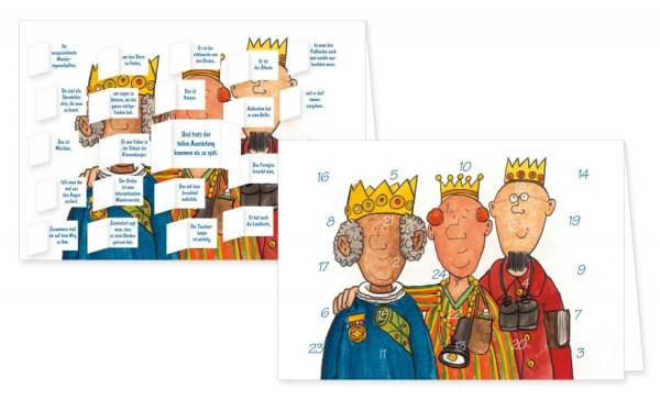 Adventskalenderdoppelkarte 'Die heiligen drei Könige'
