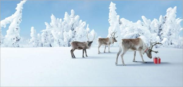 """XXL-Postkarte X-Mas """"Geschenke im Schnee"""""""