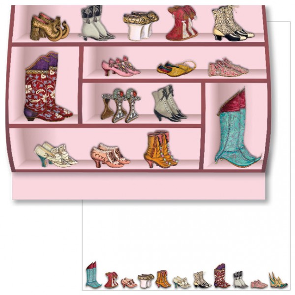 Schreib-Set 'Historische Schuhe'