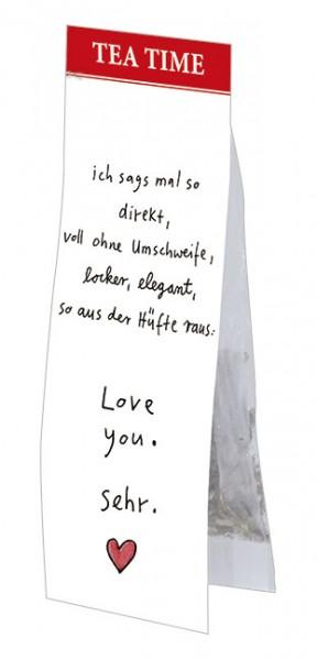Tea Time 'Love you sehr' von karindrawings