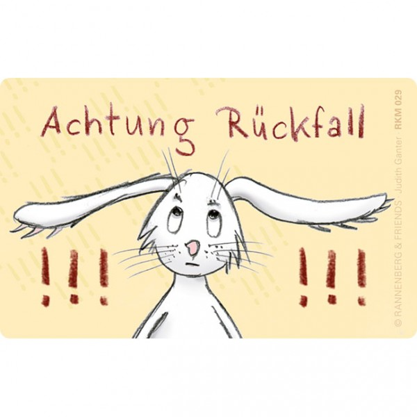Magnete 'Hase Achtung Rückfall'