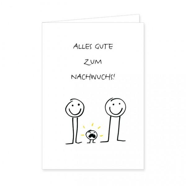 """Doppelkarte """"Alles Gute zum Nachwuchs!"""""""