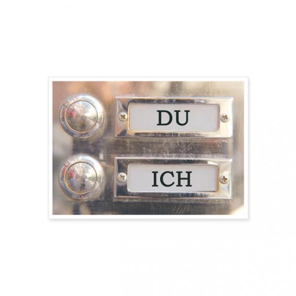 "Postkarte ""Du - Ich"""