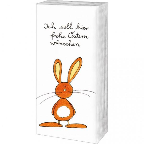 Taschentücher 'Ich soll hier frohe Ostern wünschen'