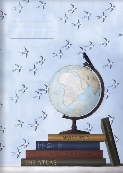 Kladden A6 'Globus' von Rebecca Campbell