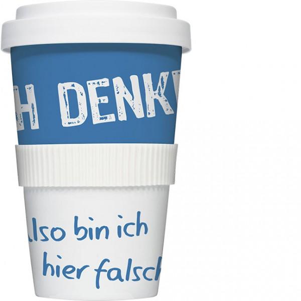 Coffee to go Becher 'Ich denke'
