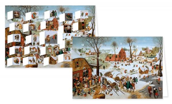 "Adventskalenderkarten "" Volkszählung zu Bethlehem """