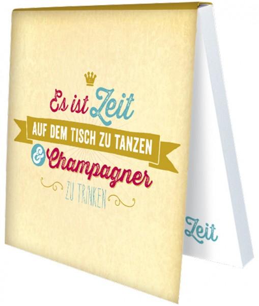 Klebezettel 'Champagner'