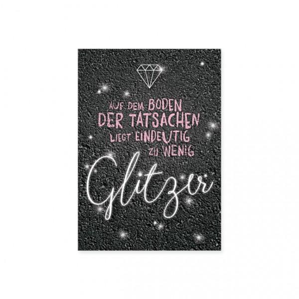 "Postkarte ""Zu wenig Glitzer"""