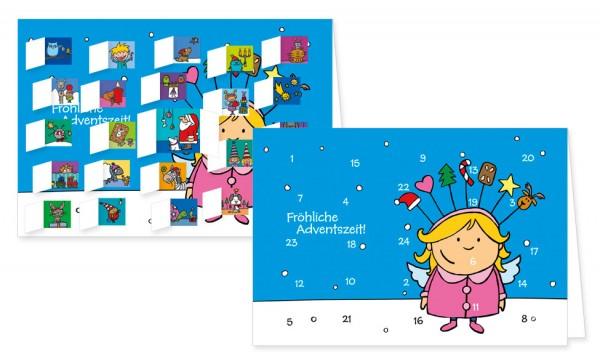 Adventskalenderdoppelkarte 'Engelskind'