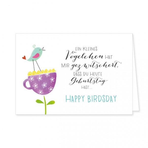 """Doppelkarten """"Happy Birdsday"""""""