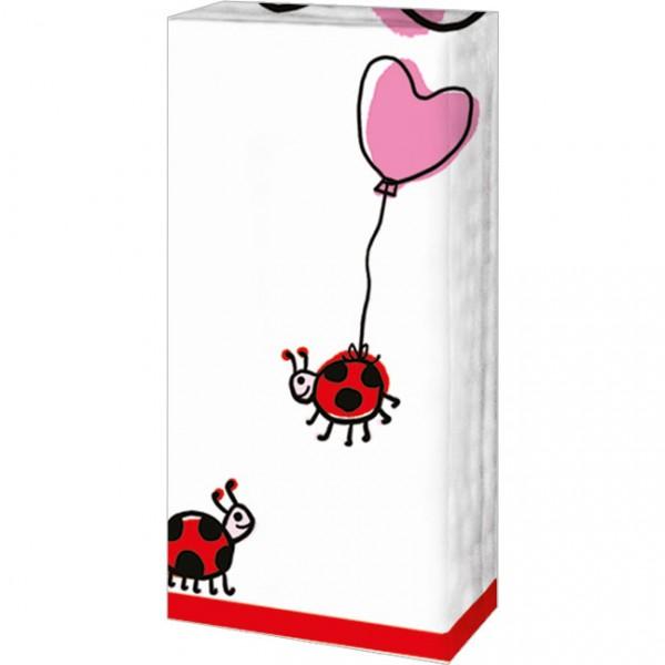 Taschentücher 'Herzchen-Käfer'