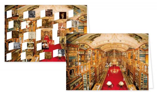 Adventskalenderdoppelkarte 'Bibliotheken'