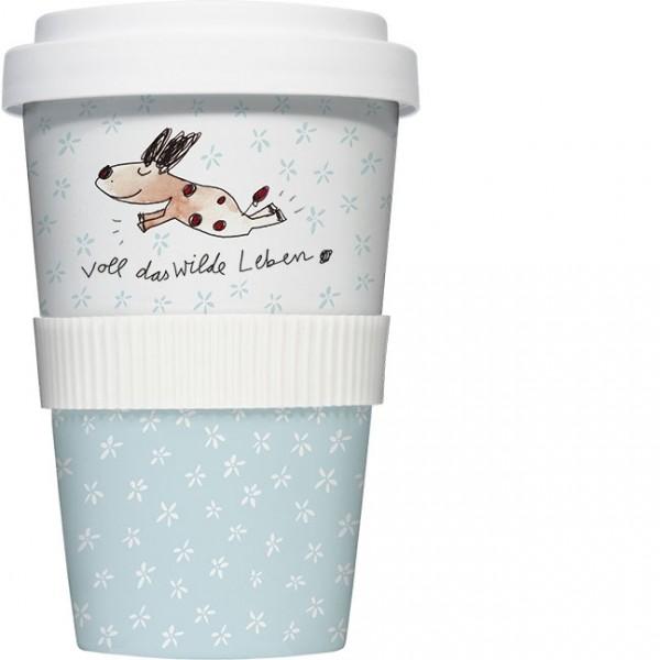Coffee to go Becher 'Voll das wilde Leben'