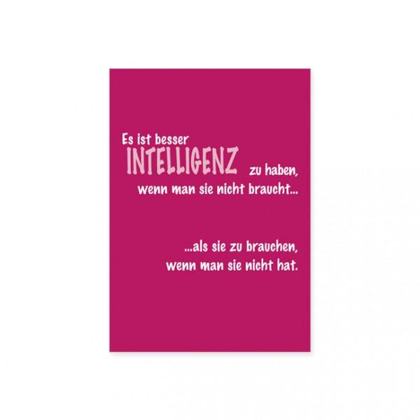 "Postkarte ""Intelligenz"""