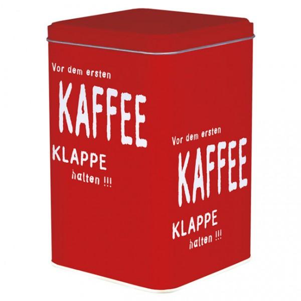 Blechdose 'Vor dem ersten Kaffee'
