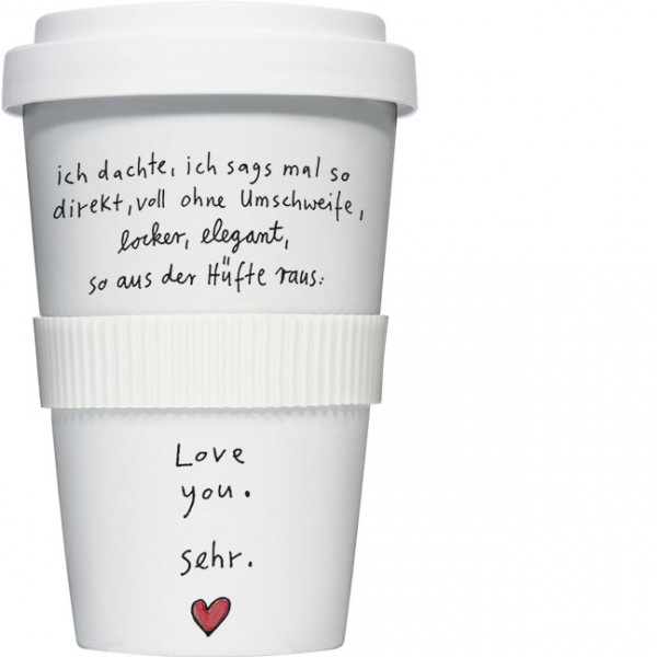 Coffee to go 'Love you sehr' von karindrawings