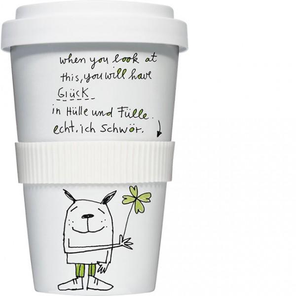 Coffee to go 'Glück in Hülle und Fülle'