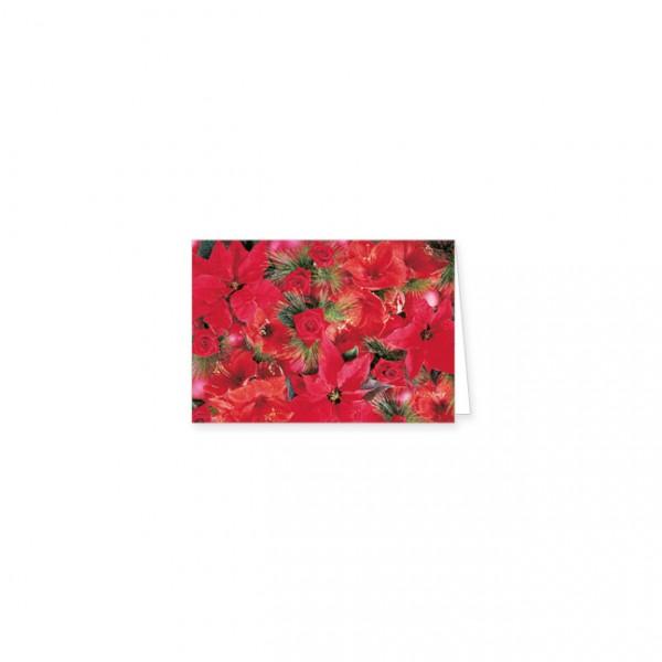 """Mini-Doppelkarte X-Mas """"weihnachtliches Blumenarrangement"""""""