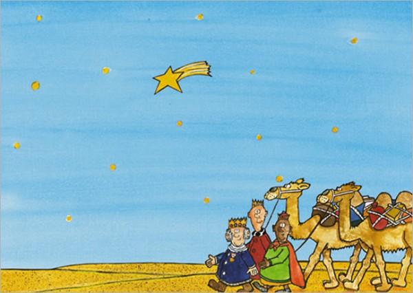 "Postkarte X-Mas ""Drei Weise aus dem Morgenland"""