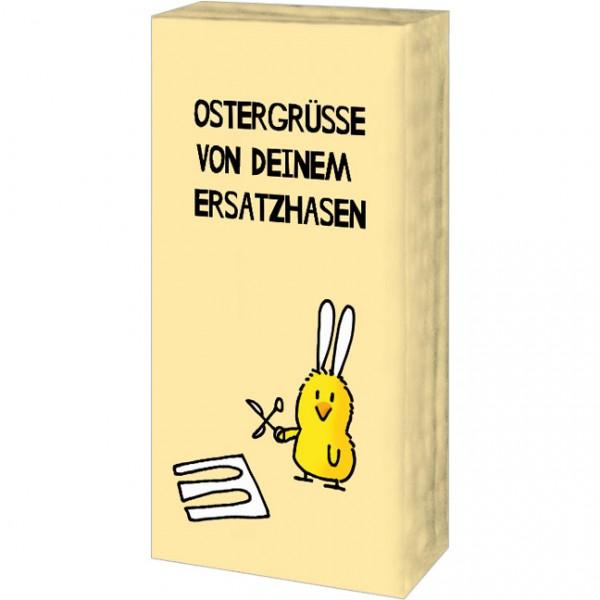 Taschentücher 'Ersatzhase' von Alexander Holzach