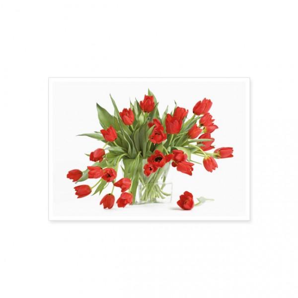 """Postkarte """"Rote Tulpen"""""""
