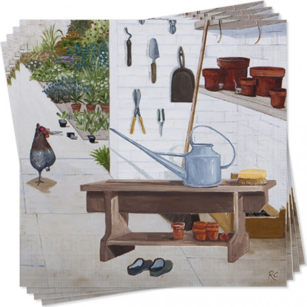 Servietten 'Gartenfreude' von Rebecca Campbell