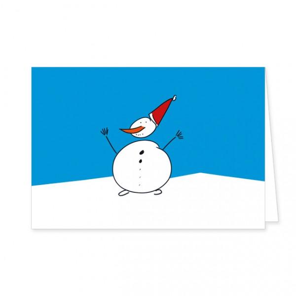 """Doppelkarten X-Mas """"Weihnachtsschneemann"""""""