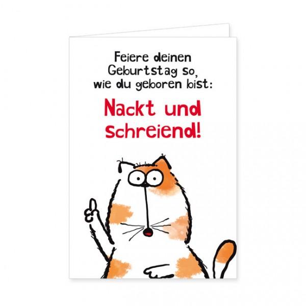 """Doppelkarte """"Catzz - Nackt und schreiend"""""""