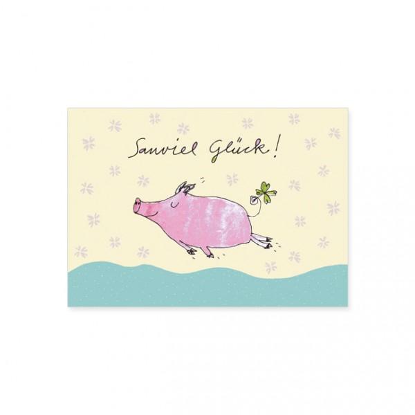 """Postkarte """"Sauviel Glück!"""""""