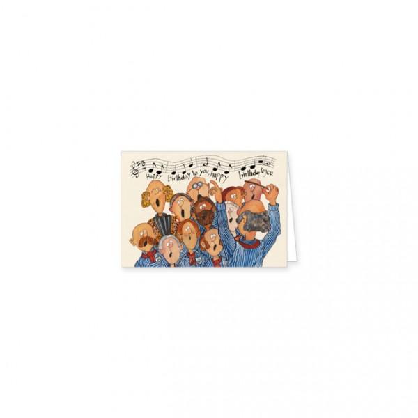 "Mini-Doppelkarte ""4020 happy b day- NORD"""