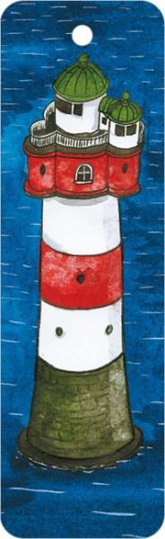 """Lesezeichen """"Leuchtturm 1 v.oben"""""""