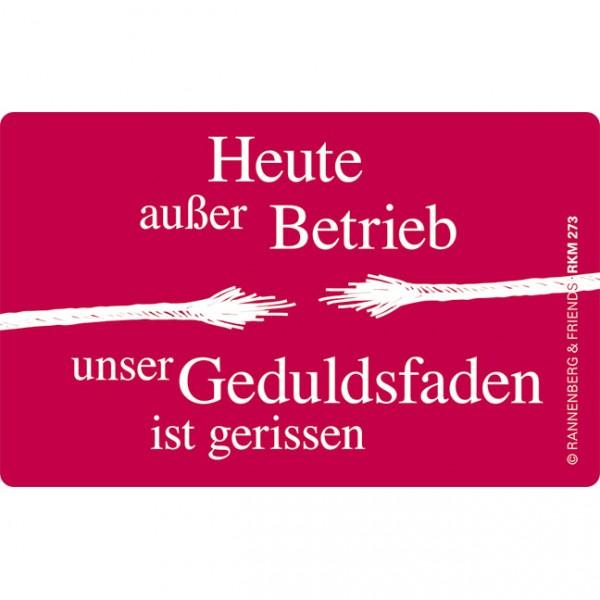 """Magnete""""Außer Betrieb"""""""