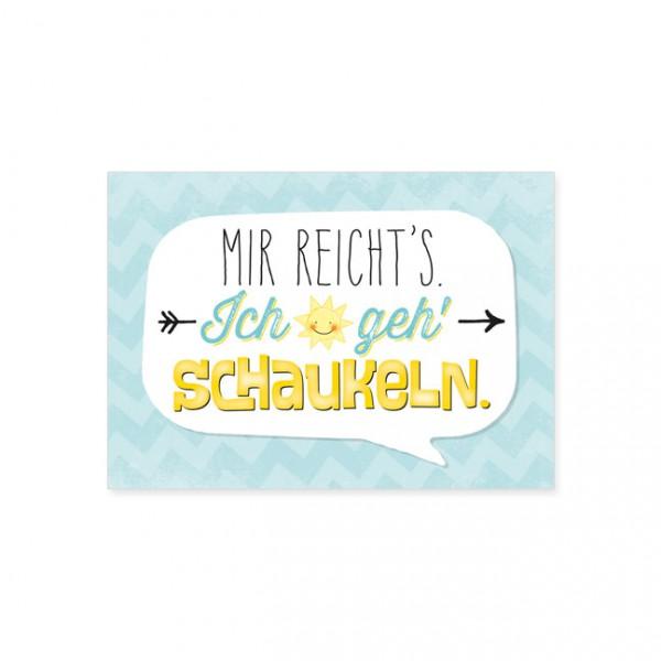 """Postkarte """"Mir reichts's"""""""