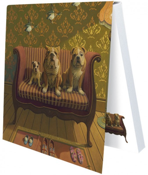 "Klebezettel ""Doggs-Bunte Hunde / Creature Comforts"""