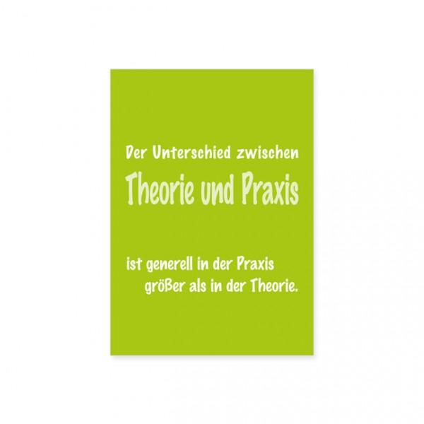 """Postkarte """"Theorie und Praxis"""""""