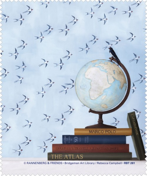 Brillenputztuch 'Globus' von Rebecca Campbell