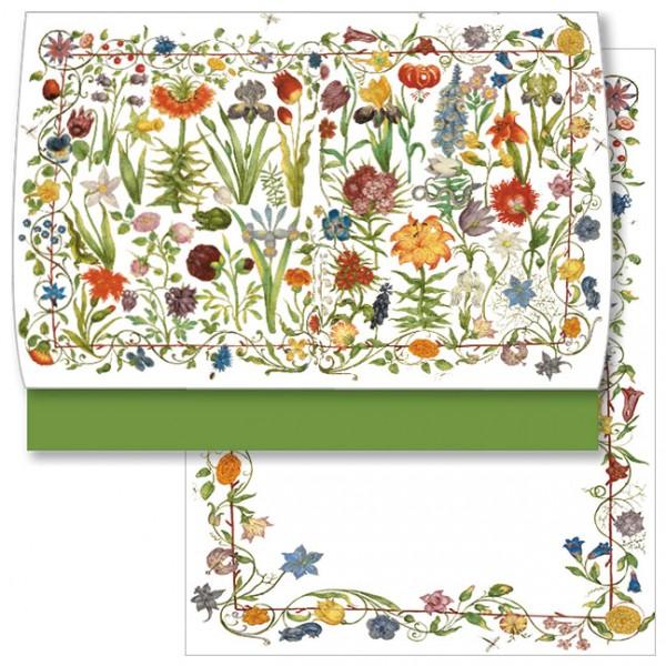 Schreib-Set 'Gartenblumen'