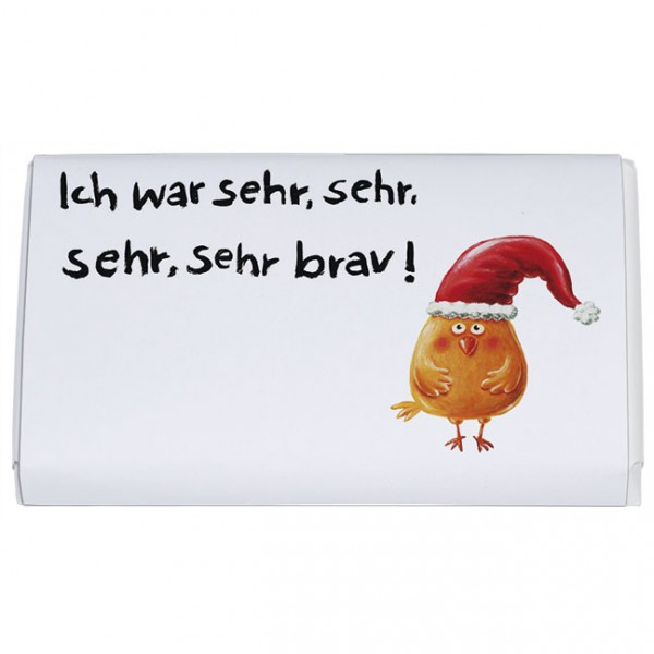 Schokoladentäfelchen Weihnachten 'Ich war sehr brav'