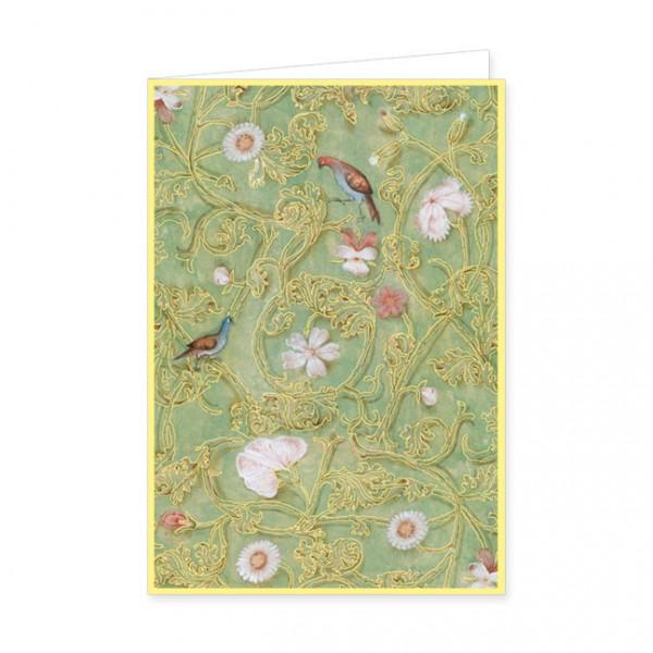 """Doppelkarte Gold """"Breviar der Isabella von Kastilien (grün)"""""""