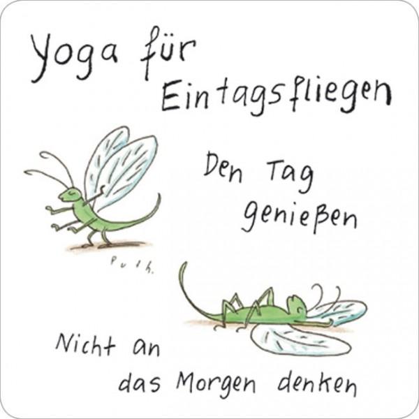 Handy-Putzis Large 'Yoga für Eintagsfliegen'